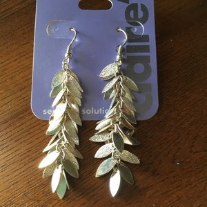 Silver Leaf Earrings NWT